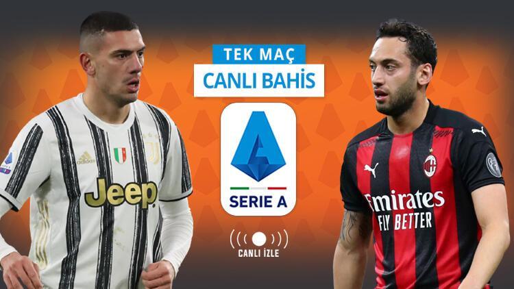 Juventus'ta Merih Demiral oynayacak mı? Hakan Çalhanoğlu önderliğindeki Milan'ın iddaa oranı...