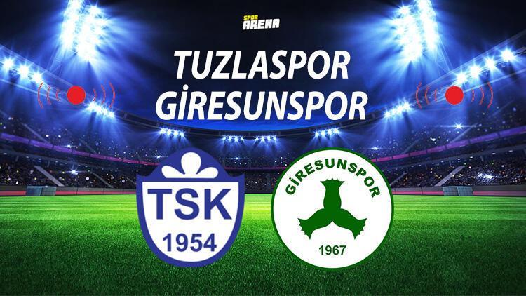 Tuzlaspor Giresunspor maçı saat kaçta hangi kanalda ne zaman? Tuzlaspor Giresunspor maçı istatistik bilgileri!