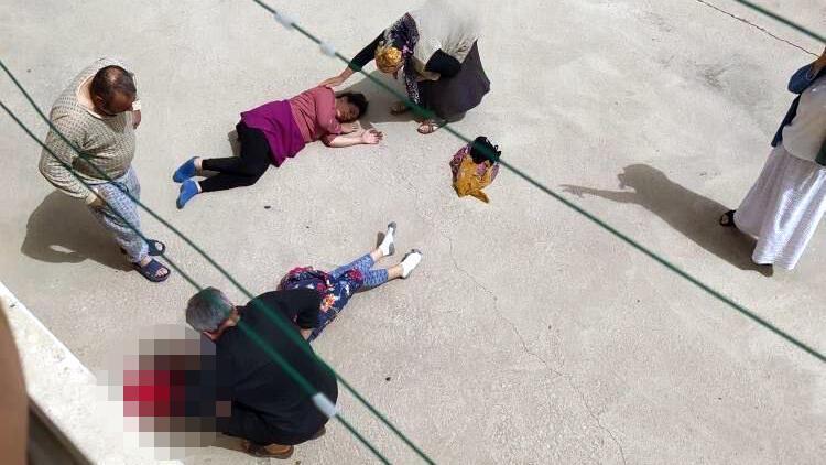 Ankara'da feci olay! 10 metreden yere düştüler