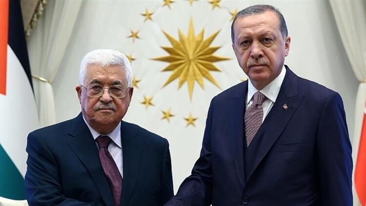 Son dakika... Cumhurbaşkanı Erdoğan, Mahmud Abbas ile görüştü!