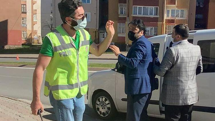 Sivas'ta önce polisten kaçtı sonra pişman oldu