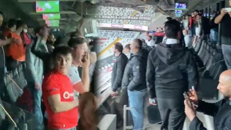 Son dakika: Vodafone Park'ta çarpıcı görüntüler! Beşiktaş taraftarı stada alındı