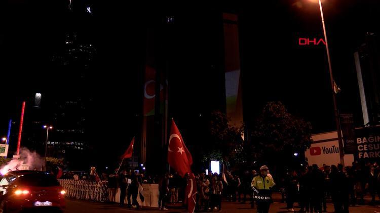 İstanbul'da İsrail'in Filistinlilere yönelik saldırıları protesto edildi