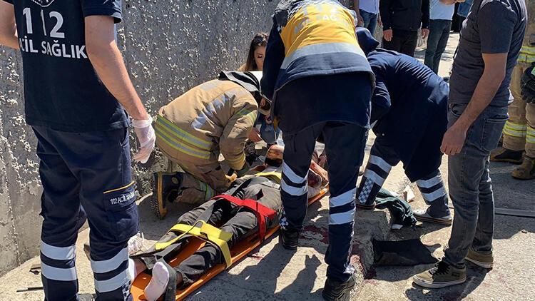 Çekmeköy'de kaza! 2 kişi yaralandı...