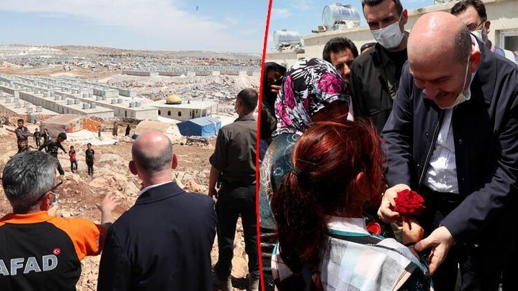 İçişleri Bakanı Süleyman Soylu duyurdu: İdlib'de 1 yılda 35 bin ev bitirildi
