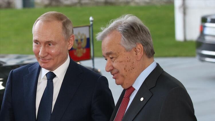 Rusya Devlet Başkanı Putin'den ve BM Genel Sekreteri Guterres ile Filistin görüşmesi