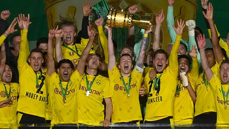 Almanya Kupası'nda şampiyon Borussia Dortmund! Leipzig'i farklı geçtiler