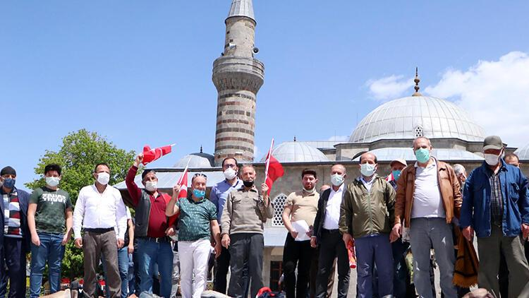 Erzurum'da İsrail'i protesto ettiler