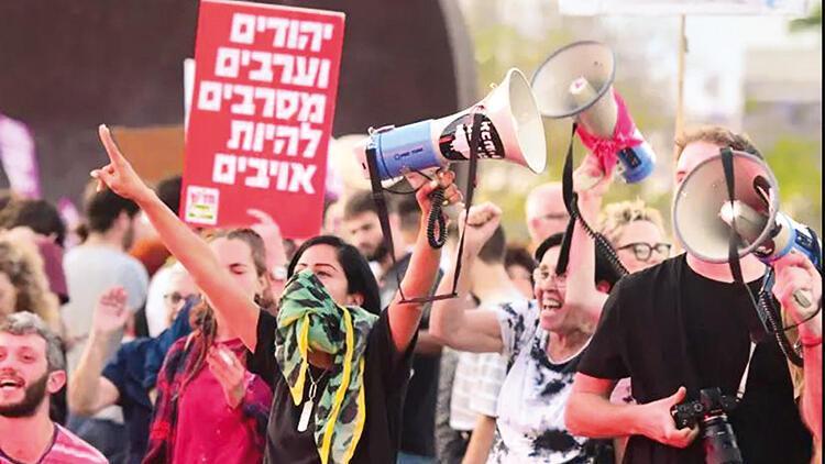 İsrailli Arap ve Yahudiler barış için gösteri yaptı