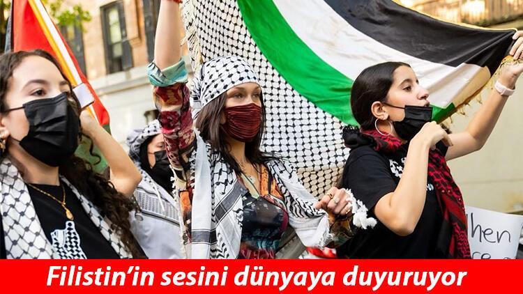 İsrail devleti Filistin'e destek veren ünlü modeli hedef gösterdi!