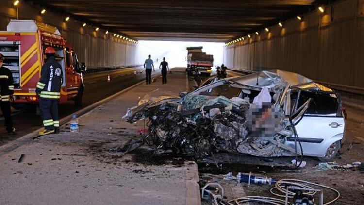 Konya'da baba-kız feci kazada hayatını kaybetmişti!  Son yolculuklarına uğurlandılar