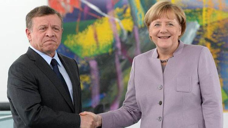 Almanya Başbakanı Merkel, Ürdün Kralı 2. Abdullah ile görüştü