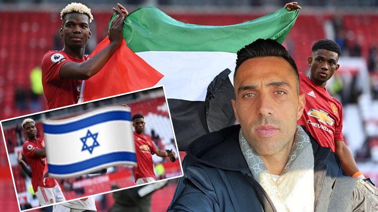 İsrailli futbolcu Eran Zahaviden bir skandal daha Bu kez Filistin bayrağı açan Pogba ile dalga geçti...