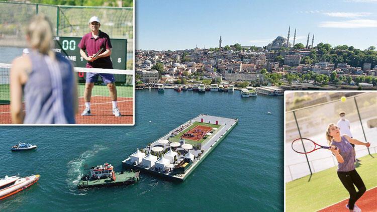 Dilek İmamoğlu'ndan tenis şov