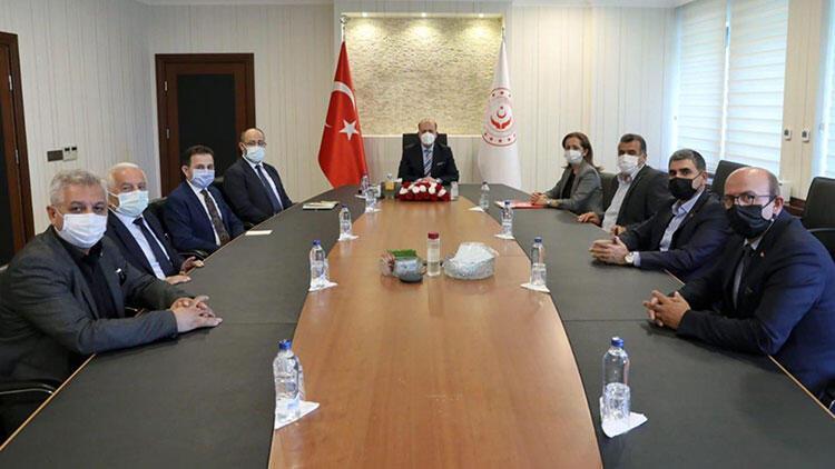 Bakan Bilgin, DİSK Genel Başkanı Çerkezoğlu ile görüştü