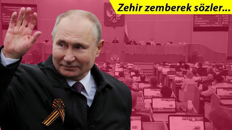 Putinden dünyaya gözdağı Bize bulaşanın dişlerini dökeriz