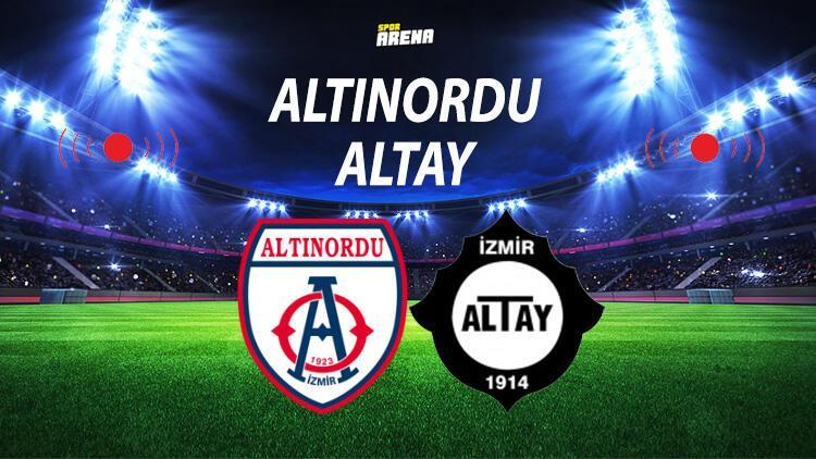 Altınordu Altay maçı ne zaman saat kaçta hangi kanalda? Play Off final tarihi belli oldu
