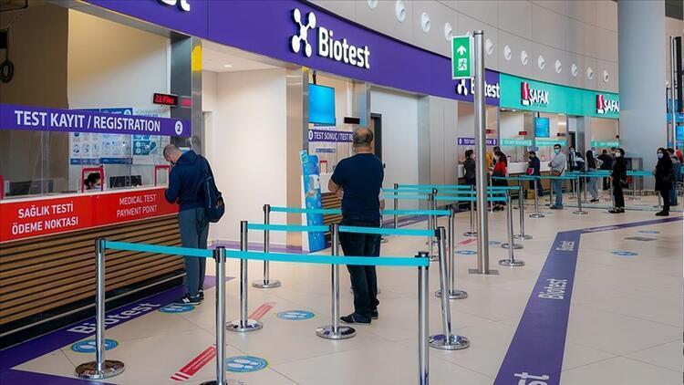 İstanbul Havalimanı'nda PCR sonuçları kısa sürede yolculara bildiriliyor