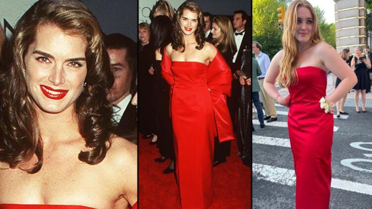 O kırmızı elbiseyi 23 yıl sonra kızı giydi