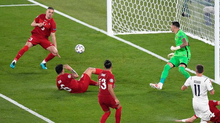 EURO 2020'de Türkiye - İtalya maçında Merih Demiral'ın büyük talihsizliği