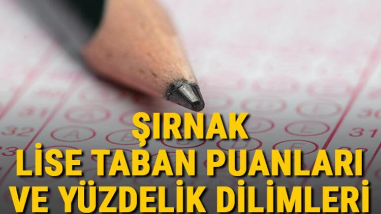 Şırnak lise taban puanları 2021! Şırnak Anadolu, İmam Hatip, Fen Lisesi LGS yüzdelik dilimleri ve taban puanları bilgileri