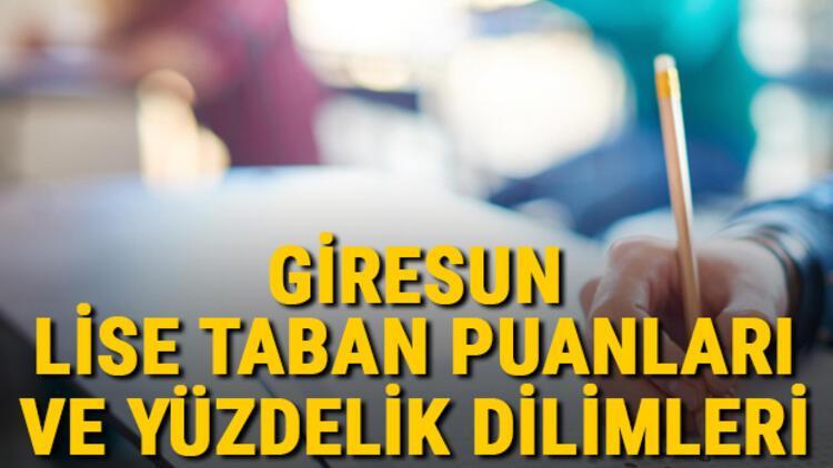 Giresun lise taban puanları 2021! Giresun Anadolu, İmam Hatip, Fen Lisesi LGS yüzdelik dilimleri ve taban puanları bilgileri