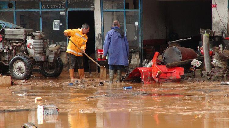 Kırıkkale'de sel sonrası hasar tespiti