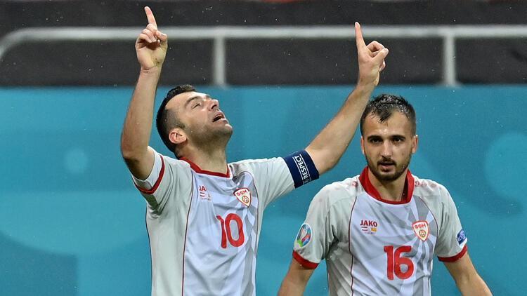 EURO 2020'deki Avusturya - K. Makedonya maçında Goran Pandev'den tarihi gol