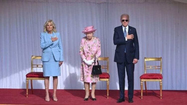 İngiltere Kraliçesi 2. Elizabeth, Windsor Kalesi'nde ABD Başkanı Biden ve eşiyle görüştü