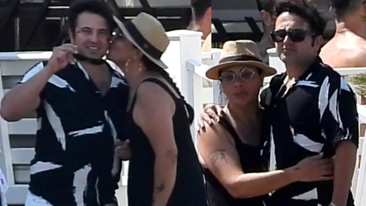 Işın Karaca sevgilisi Can Yapıcıoğlu'nu öpmeye doyamadı