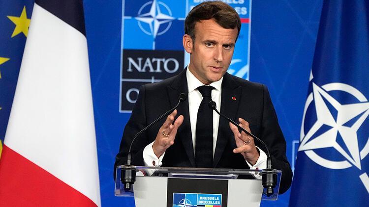 Macron, Cumhurbaşkanı Erdoğan ile yaptığı görüşmenin yatıştırıcı bir iklimde geçtiğini belirtti