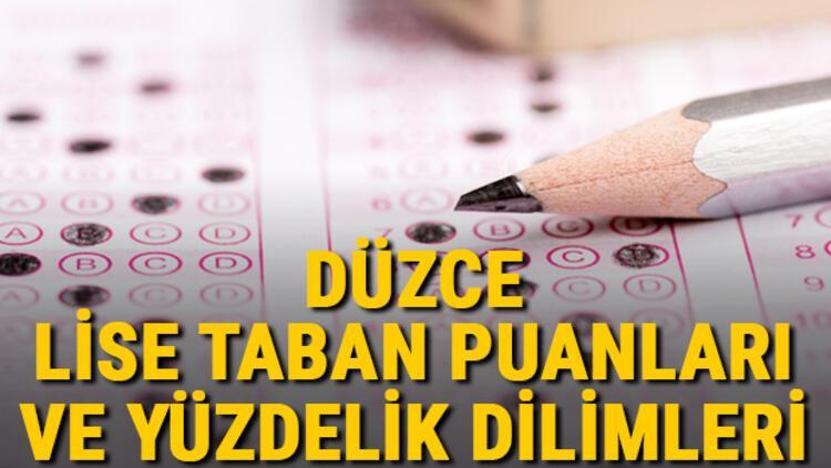 Düzce lise taban puanları 2021! Düzce Anadolu, İmam Hatip, Fen Lisesi LGS yüzdelik dilimleri ve taban puanları bilgileri