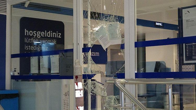 Camı kırılarak girilen bankadan 200 lira çalındı