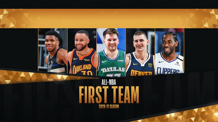 NBA'de sezonun en iyi 5'leri belli oldu! Giannis, Curry, Doncic, Jokic, Kawhi...
