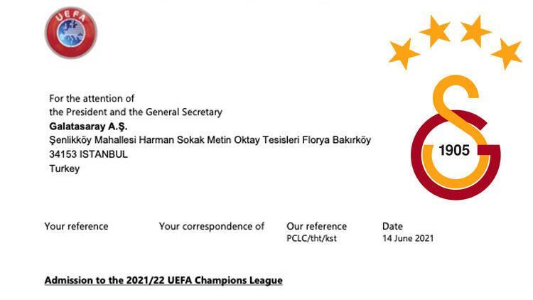 Son dakika: UEFA'dan Galatasaray'a resmi davet! Şampiyonlar Ligi...