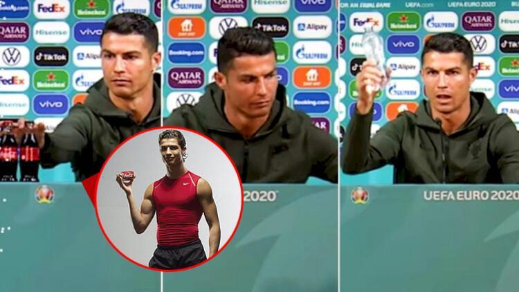 Cristiano Ronaldo Coca-Cola için kamera karşısına geçmiş İki yüzlü suçlaması...