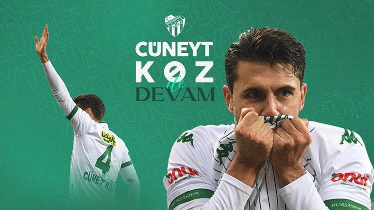 Bursaspor, Cüneyt Köz ile sözleşme yeniledi
