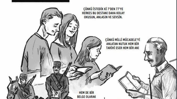 Bir solukta çizgi  roman 'Nutuk'