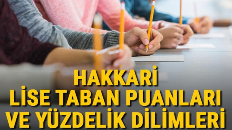 Hakkari lise taban puanları 2021! Hakkari Anadolu, İmam Hatip, Fen Lisesi LGS yüzdelik dilimleri ve taban puanları bilgileri