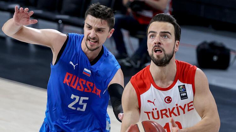 A Milli Basketbol Takımı, hazırlık maçında Rusya'ya mağlup oldu