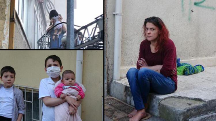 Bursa'da apartmanda yangın: Mahsur kalan 1'i bebek 12 kişi kurtarıldı