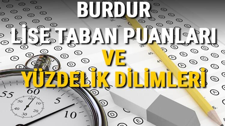 Burdur lise taban puanları 2021! Burdur Anadolu, İmam Hatip, Fen Lisesi LGS yüzdelik dilimleri ve taban puanları bilgileri