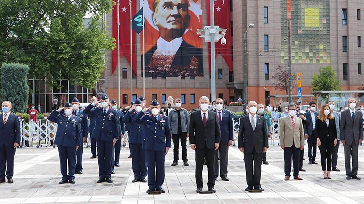 Atatürk'ün Eskişehir'e ilk gelişinin yıl dönümü törenle kutlandı
