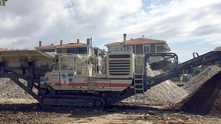 Tekirdağ'dan çalınan taş kırma makinesi İstanbul'da bulundu