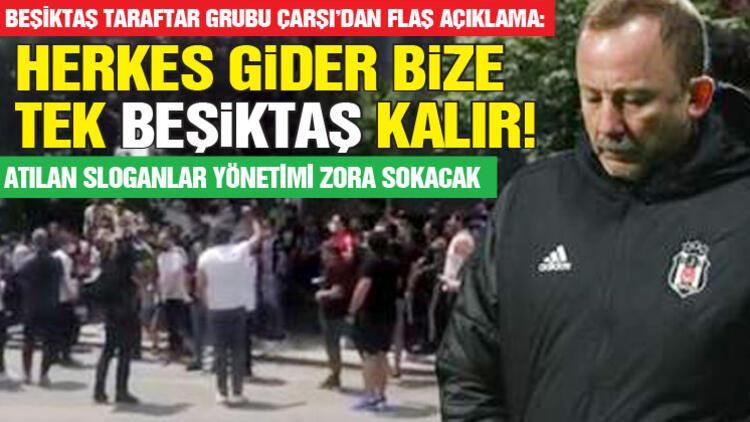 Beşiktaş taraftarı Sergen Yalçın'ın evinin önünde!
