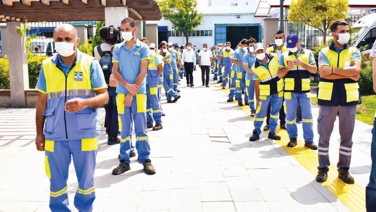 İşçilere aşı çadırı