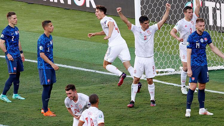 Slovakya 0 - 5 İspanya (EURO 2020 E Grubu maç özeti)