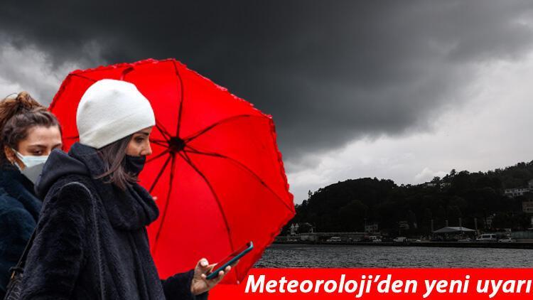 Meteoroloji'den son dakika hava durumu ve dolu uyarısı! İstanbul için saat verildi: Sağanak geliyor