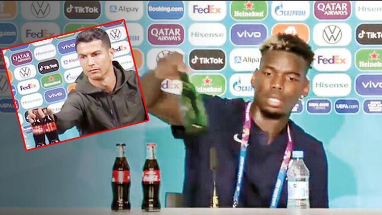 Son Dakika Haberi... EURO 2020'de alkollü içecek markasına ait şişelerin kaldırılması kararı! Paul Pogba sonrası...