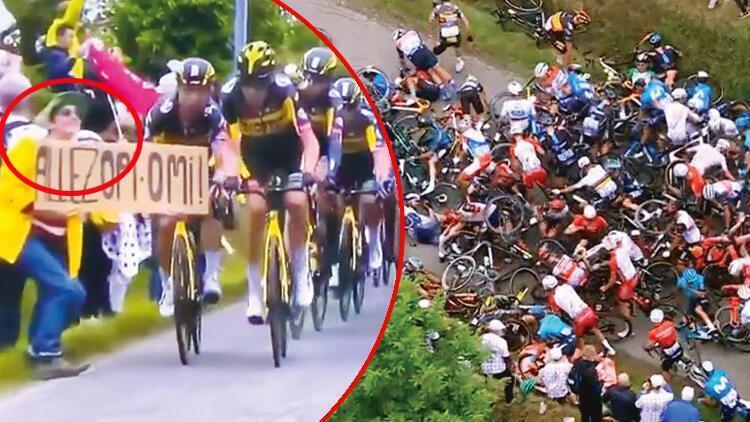 Fransa Bisiklet Turu'ndaki büyük kazaya sebep olan kadın gözaltına alındı!
